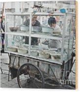 The Street Vendor Wood Print
