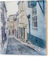 The Streets Of Old Quebec City Wood Print