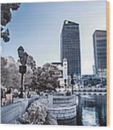 The Strip In Infrared Wood Print