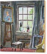 The Studio Of Juliet Pannett Wood Print