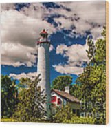 The Sturgeon Point Light Wood Print