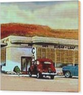 The Sugar Loaf Cafe In St. George Ut In The 40's Wood Print
