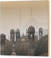 The Suleymaniye Mosque And New Mosque In The Backround Wood Print
