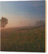 The Summer Field Wood Print