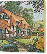 The Summer Thatchers Wood Print