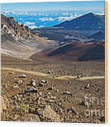 The Summit Of Haleakala Volcano In Maui. Wood Print