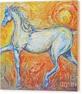 The Sun Horse Wood Print