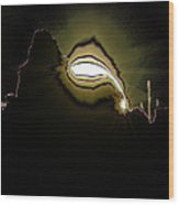 The Sun Over A Jagged Hill Wood Print
