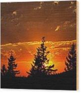 The Sun Retreats Wood Print