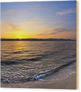 The Sun Rises Over The Red Sea In Egypt Wood Print