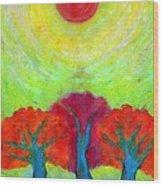 The Sun Three Wood Print