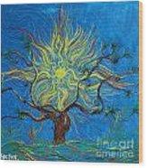 The Sun Tree Wood Print