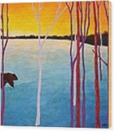 The Sundowner Wood Print