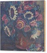 The Sunflower Bouquet Wood Print