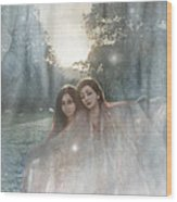 The Sunset Dance Wood Print by Angel  Tarantella