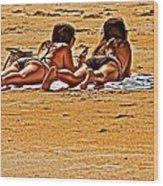 The Suntan Girls Wood Print
