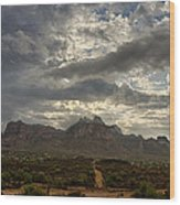 The Superstition Mountains After A Storm  Wood Print