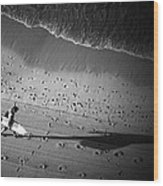 The Surfer's Steps Wood Print