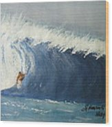 The Surfing Wood Print