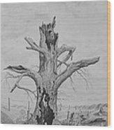 The Survivor Wood Print