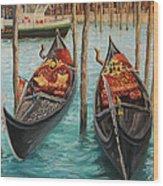 The Symbols Of Venice Wood Print