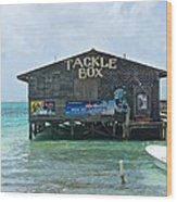 The Tackle Box Sign Wood Print