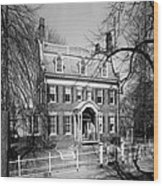 The Taft House - Brown University 1958 Wood Print