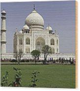 The Taj Mahal In Agra. Wood Print