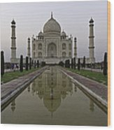 The Taj Mahal In Agra India At Dusk. Wood Print