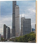 The Tall Buildings Wood Print