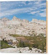 The Tall Peaks Of Granite Park Wood Print
