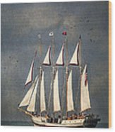 The Tall Ship Windy Wood Print