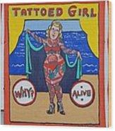 The Tattoed Girl Wood Print
