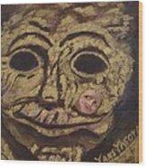 The Tattoed Mask Wood Print