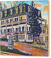 The Tavern Inn In Wilmington N Y In 1910 Wood Print