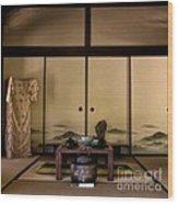 The Tea Room Wood Print