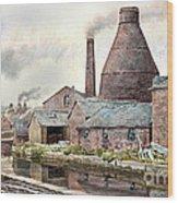 The Teapot Factory Wood Print
