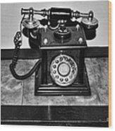 The Telephone Wood Print
