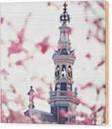 The Temple Bell Dies Away 1. Pink Spring In Amsterdam Wood Print
