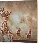 The Temple Dragon Wood Print