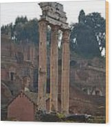 The Temple Of Castor And Pollux Wood Print