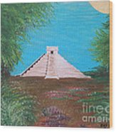 The Temple Of Kukulcan Wood Print