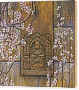 The Temple's Wall Wood Print