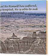 The Temptation Of Jesus Hebrews 2 18 Wood Print
