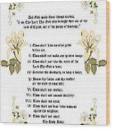 The Ten Commandments Wood Print by Anne Norskog