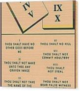 The Ten Commandments Wood Print