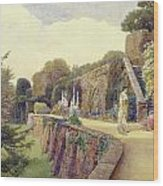 The Terrace At Berkeley Castle Wood Print