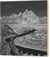 309217-the Teton Range From Snake River Overlook Wood Print
