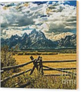 The Tetons Wood Print