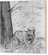 The Teutonic Fox Wood Print